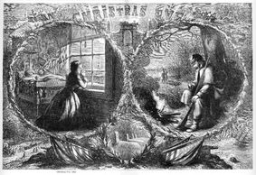 Christmas Eve 1862 print Thomas Nast