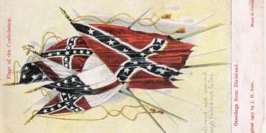 Confederate Battleflag grouping postcard