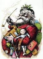 Thomas Nast original Santa Claus color print