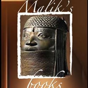 Malik books logo a african american bookstore or black bookstore with books, gifts, calendars, cards