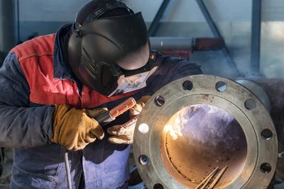 Shop Welding Flange Fabrication Steel Stainless Steel