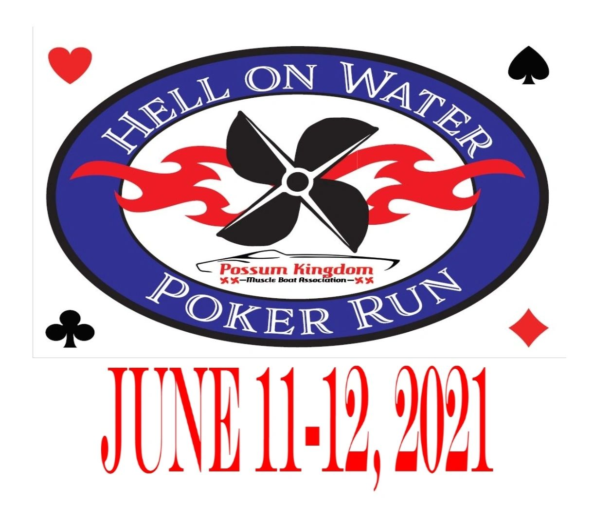 Save the date for Hell on Water Poker Run 2021!  Show & Shine  6/11/21 and HOW Poker Run 6/12/21