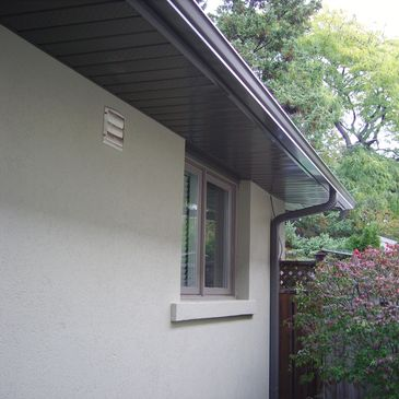 eavestrough and downspouts