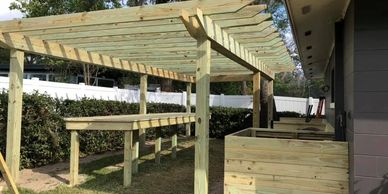 Pergola construction in Orlando