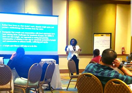 Yolanda Roary leading a Plenary Session for the Institute of Healthcare Improvement in Puerto Rico.