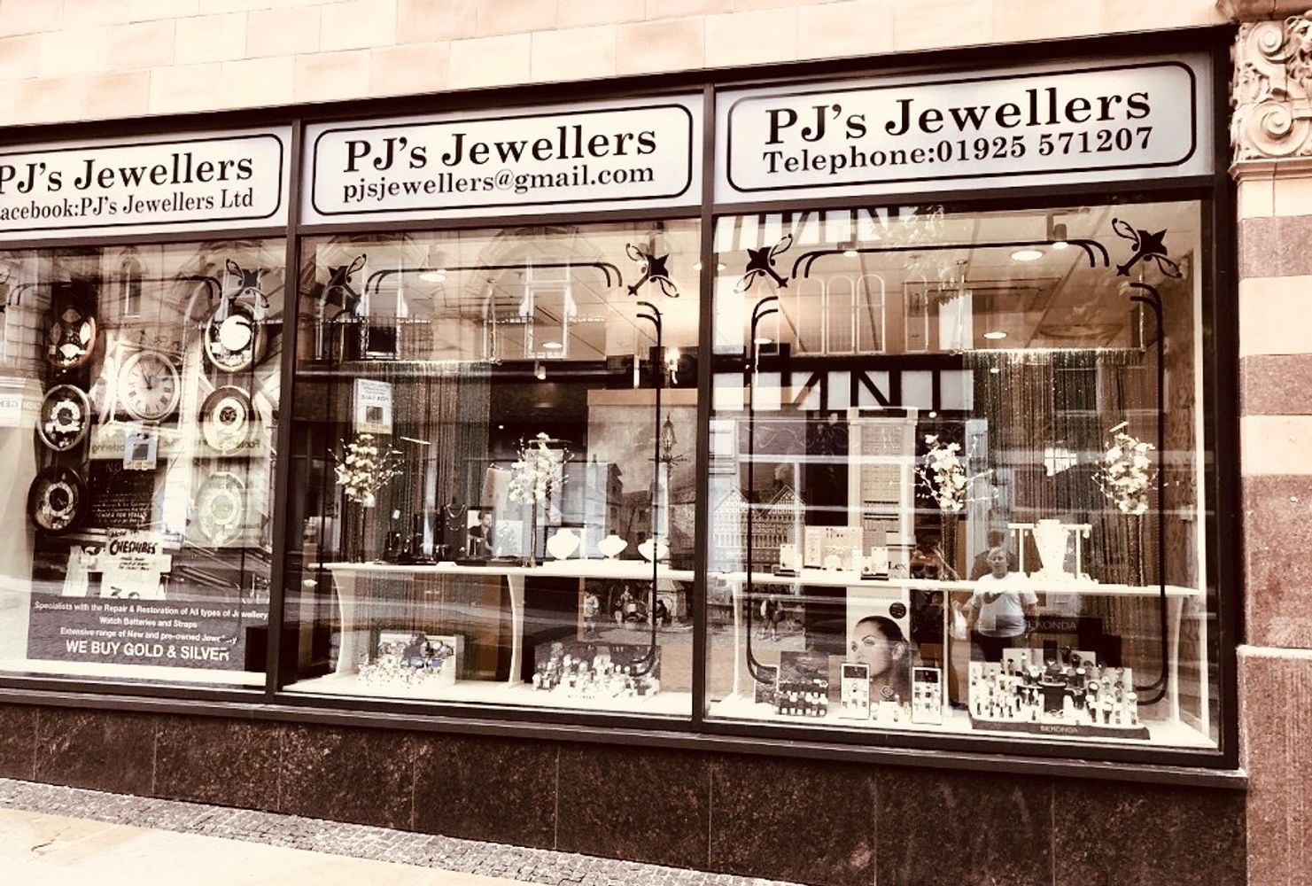 PJ's Jewellers shop Warrington