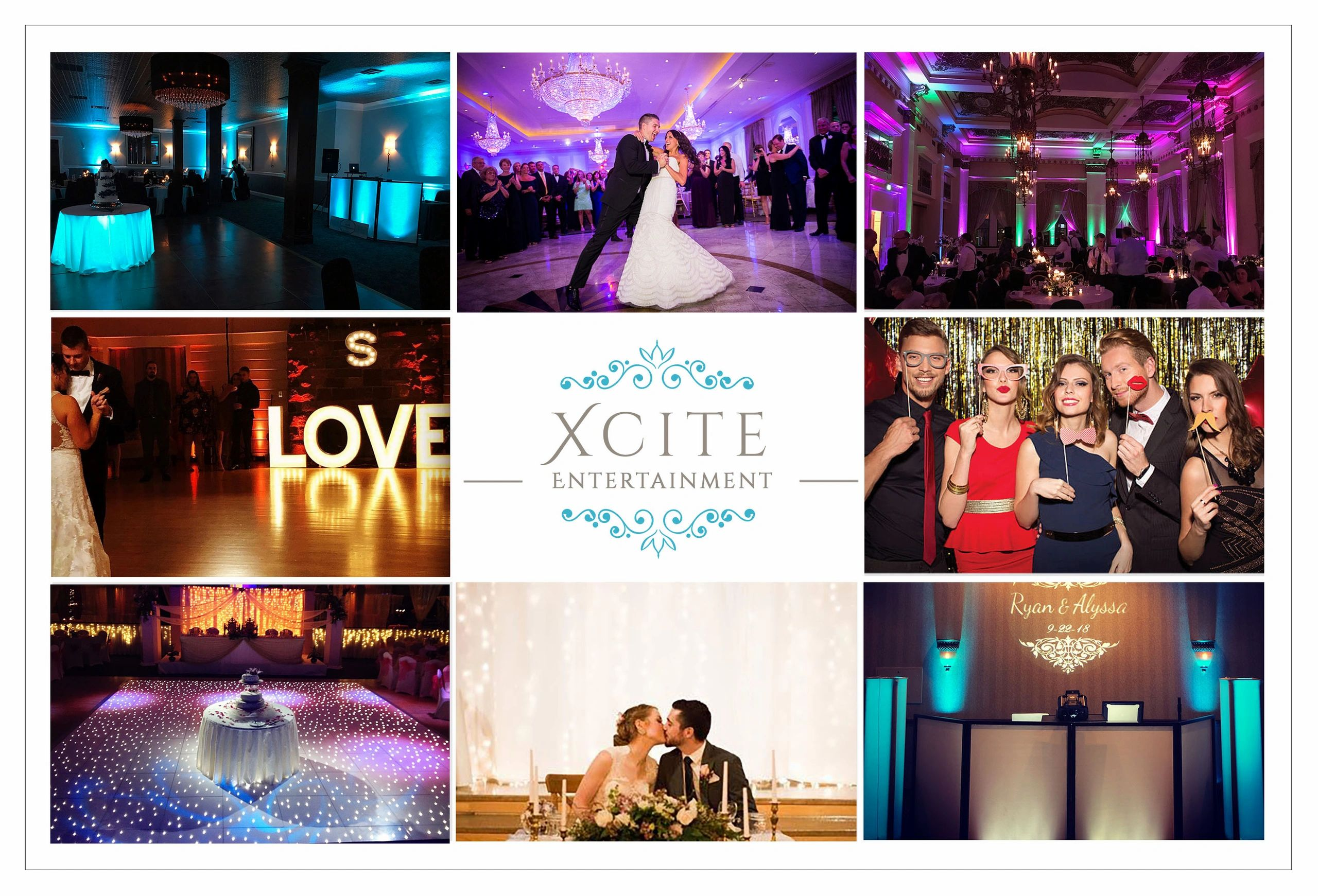 Milwaukee Wedding Djs, Wisconsin Wedding djs, Milwaukee Photo Booths, Xcite Entertainment, WI Djs