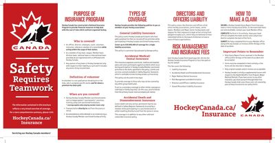 Hockey Canada has constructed a National Insurance Program (Select the image to download the PDF)