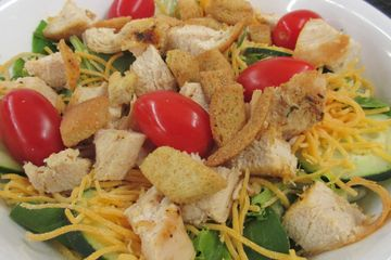 Mega Tossed Salad with Chicken Breast, Amish Meal, Lunch, Salad, Homestyle Cooking