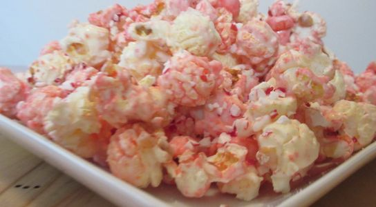 Peppermint Popcorn, Peppermint candy popcorn, Seasonal Holiday popcorn, Popcorn gift, popcorn tray