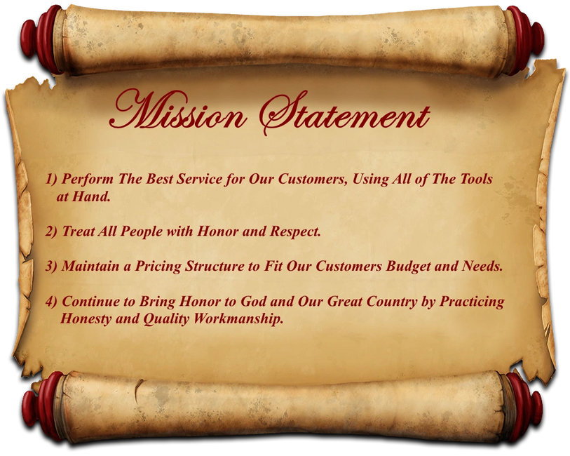 Mission Statement Honesty and Quality Werkmanship