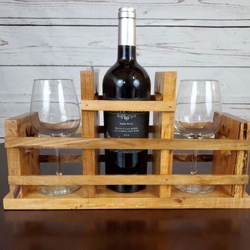 Handmade Hocking Hills Maple Wine Holder