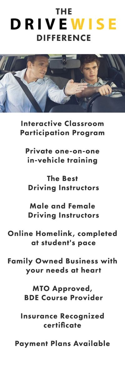 drivewise driving school simcoe