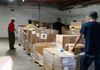 PSO pallets of care packages to be bagged Jan 2018