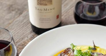 Yao Ming wines pairs beautifully with Five Spice Shortribs and Creamy Polenta