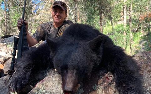 Bear Hunt with Hounds Rifle Black Bear Color Phased