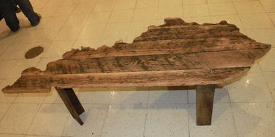 Kentucky coffee table, home decor, barnwood furniture, rustic, custom furniture, houzz, living room
