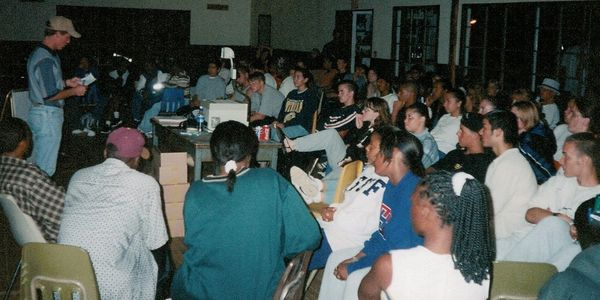 Kurt addressing a group of At-Risk Teens in San Diego, CA