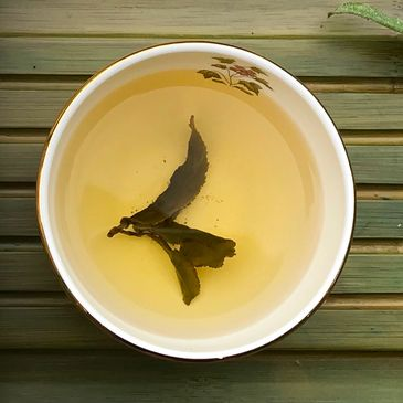 Pic of snow mountain Oolong Tea leaves.