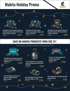 Makita Holiday Promo