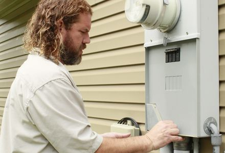 Inspecting a home's electrical grid.