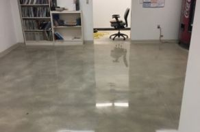 Concrete grinding, polishing, and sealing.