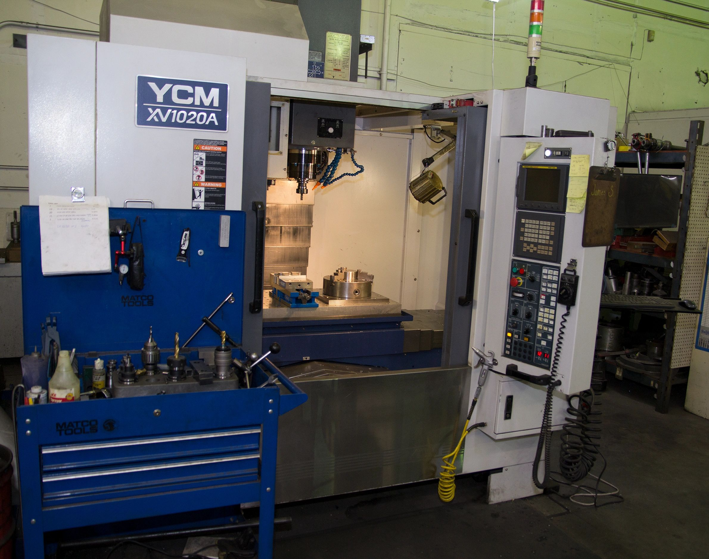 "{""blocks"":[{""key"":""883na"",""text"":""Our CNC machine.  It is a YCM XV1020A 3-axis machine with a maximum workpiece size of 40\""x20\""x20\"" and has a weight maximum of 1,100lbs."",""type"":""unstyled"",""depth"":0,""inlineStyleRanges"":[{""offset"":0,""length"":135,""style"":""BOLD""}],""entityRanges"":[],""data"":{}}],""entityMap"":{}}"