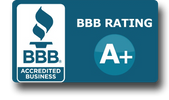 We take price in our A+ rating with the Better Business Bureau.