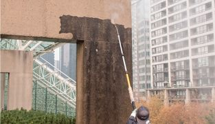 Pressure washing, hot water pressure washing, commercial cleaning, exterior cleaning