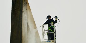 Pressure washing, exterior building cleaning, soft washing