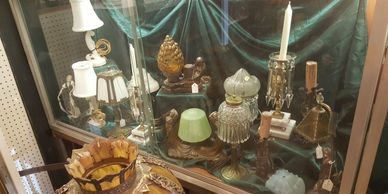 Vintage light fixtures table lamps