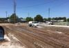 Asphalt parking lot removal with soil stabilization and treatment for new asphalt paving