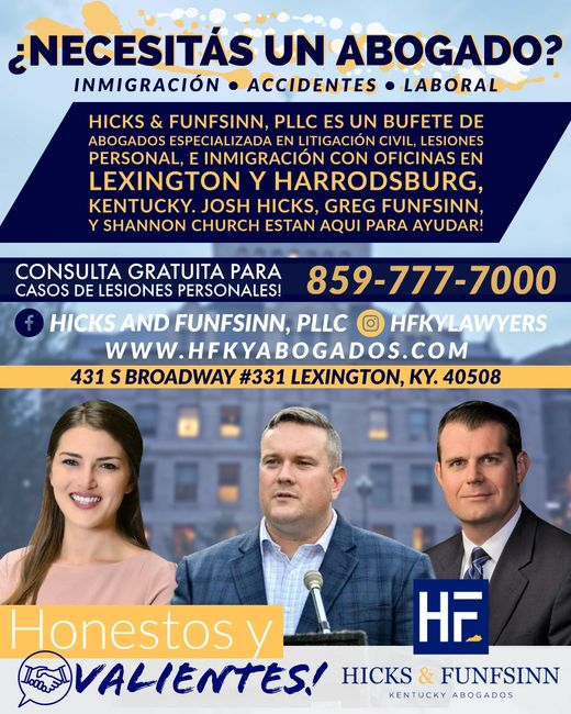Abogado de Inmigracion en Lexington, Ky. Licenciado en Lexington, Kentucky.