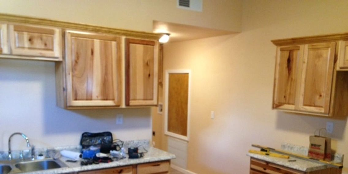 Large remodeled kitchens in many of our homes.