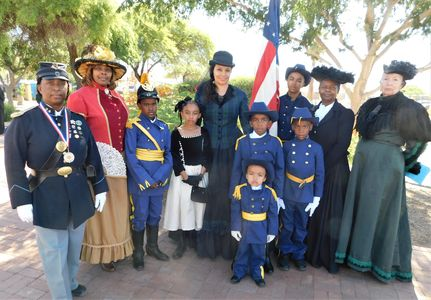 Buffalo Soldiers and Young Buffalo Soldiers of the Arizona Territory and Ladies of the Regiment.