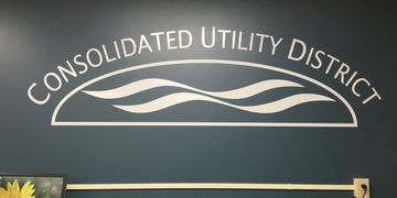 Consolidated utility District wall decal