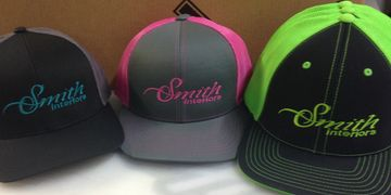 embroidered caps for smith interiors