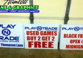 yard signs for play n trade