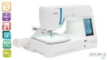 JANOME SKYLINE S9 SEWING AND EMBROIDERY COMBO MACHINE