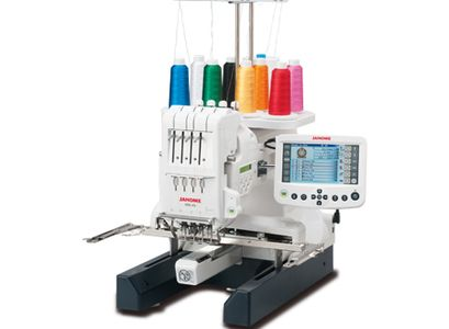 JANOME MB4 SEMI INDUSTRIAL FOUR NEEDLE FREE ARM EMBROIDERY MACHINE