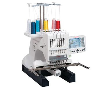 JANOME MB7 SEMI INDUSTRIAL SEVEN NEEDLE FREE ARM EMBROIDERY MACHINE
