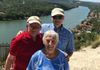 Mike, Larry, and Peggy at Mt. Bonnell
