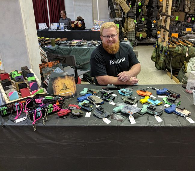 Kydex co. at gun shows and is very interactive on Instagram and Facebook with his customers. Holster