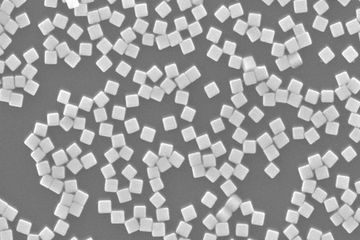 Silver Nanocubes at 50K magnification.