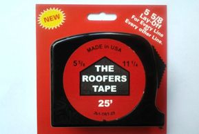 The Roofers Tape is a great tool for Roofers  who install shingle roofs; And the 5 5/8 layout on tap
