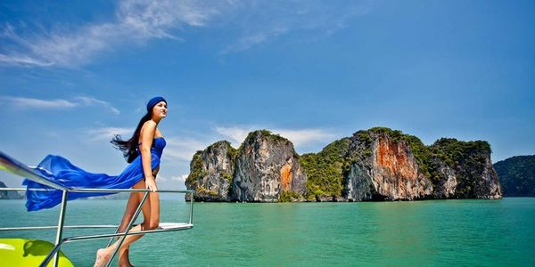 Boat charters in Phuket, Thailand.