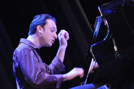 Maxim Lubarsky at the piano playing jazz