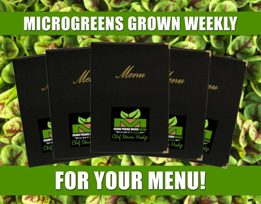 Microgreens Grown To Accommodate Any Menu.