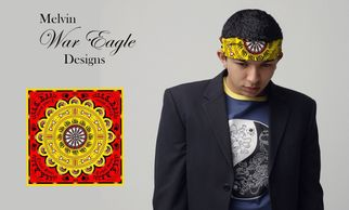 Native American Melvin War Eagle Bandanas at Pine Ridge Art
