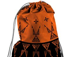 Melvin war eagle native american designer drawstring bags at redbubble